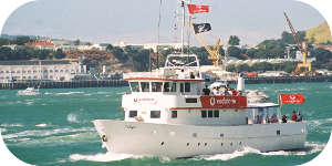 Auckland charter boat, delight your guests or friends on the Auckland Harbour